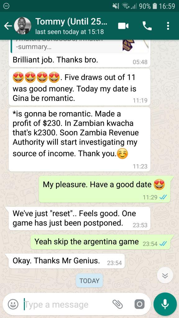 team diego (zambia client)