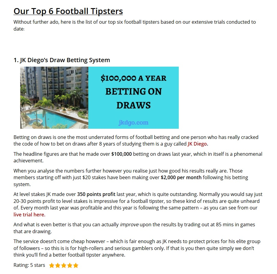 verified best football tipster